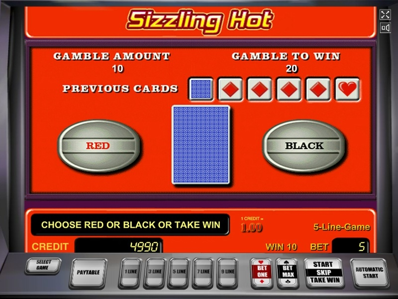 Sizzling Hot Slot Game Free