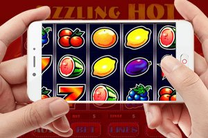 playing the sizzling hot slot on mobile